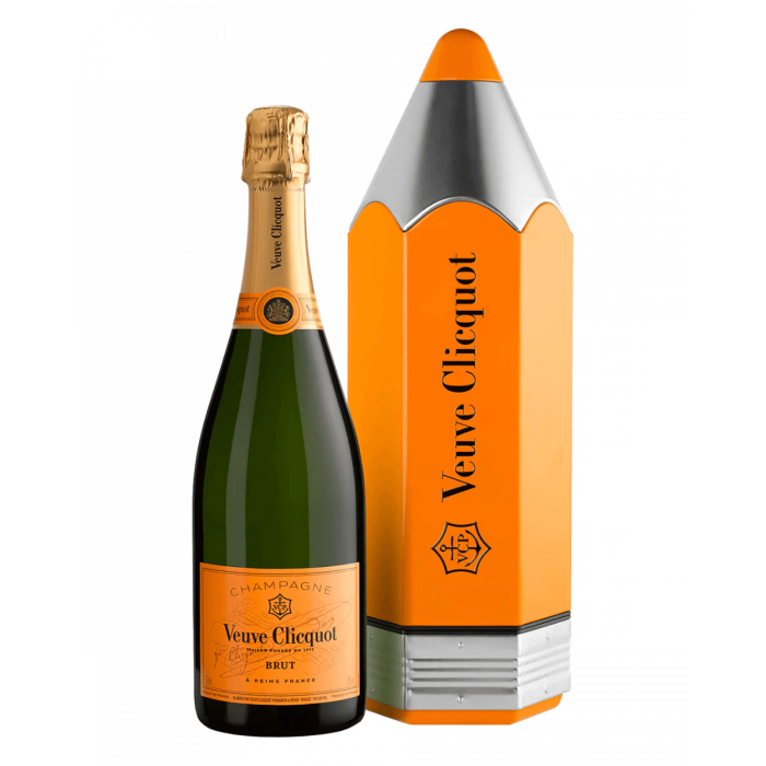 Veuve Clicquot Champagne Pencil Giftbox NV (6 x 750mL), France.