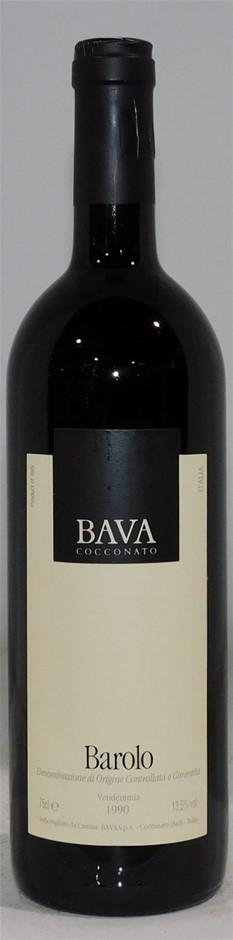 BAVA Cocconato, Barolo 1990 (1x 750mL) Italy. 5 Star Prov. Cork.