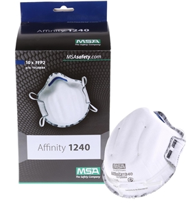 Box of 10 x MSA Disposable Masks FFP2. (