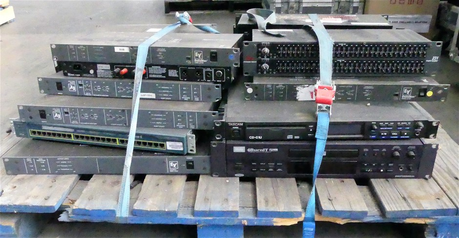 Pallet of outboard Audio Gear