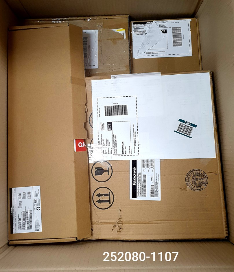 Box of USED/UNTESTED Lenovo IT Accessories