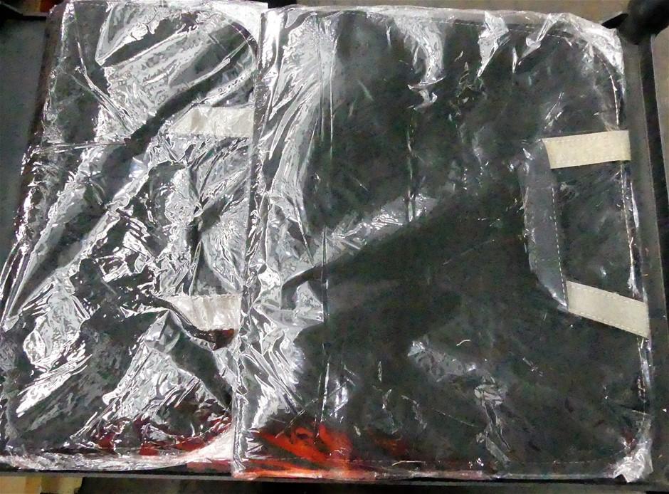 2 x PU Leather Khaki Car Seat Back Storage Bag Waterproof