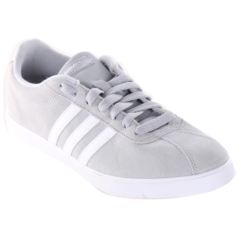 ADIDAS Women`s CourtSet Shoes, Size UK 5.5, Grey/White. Buyers Note - Disco