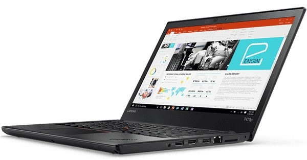 Lenovo ThinkPad T470s 14-inch Notebook, Black