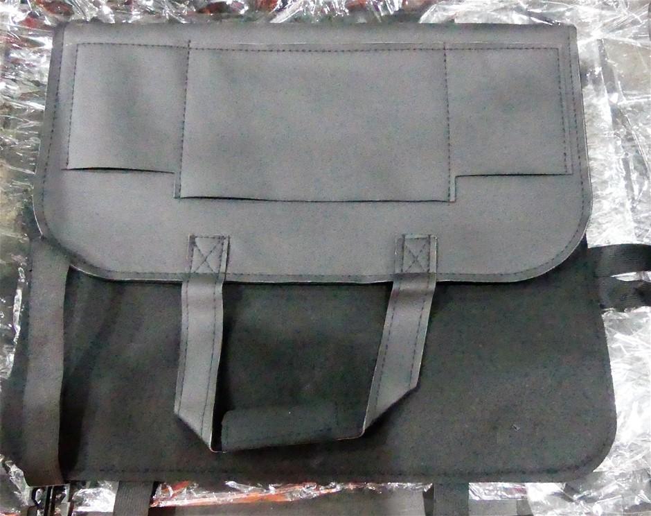 2X PU Leather Black Car Seat Back Storage Bag Waterproof