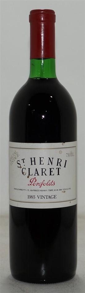 Penfolds St Henri Claret Shiraz 1985 (1x 750mL), SA. Cork.