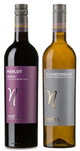 Ponte Chardonnay and Ponte Merlot mixed