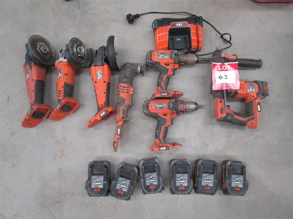 Collection of Assorted AEG Cordless Hand Tools