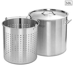 SOGA 50L 18/10 Stainless Steel Stockpot