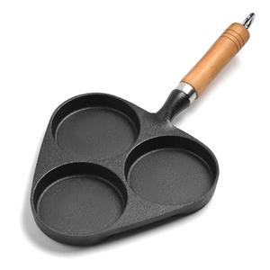 SOGA 3 Mold Cast Iron Breakfast Fried Eg