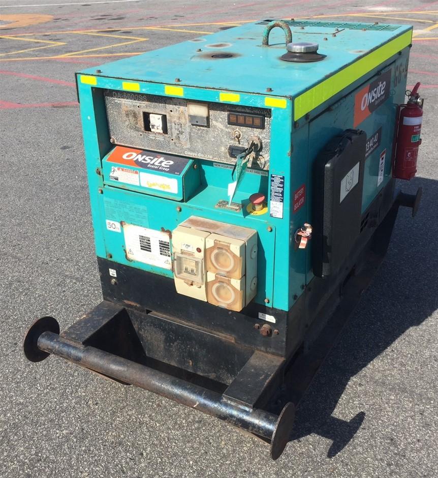 2010 Denyo DA6000SS 6kVA Diesel Generator (Location: Wangara)