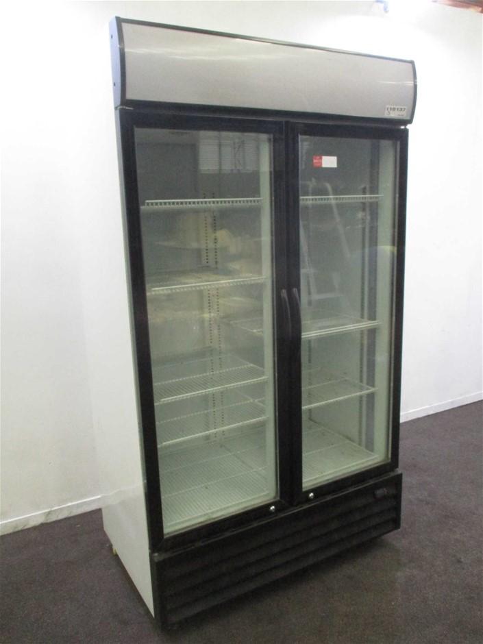 DFS1000 2 Glass Door - Upright Refrigerator