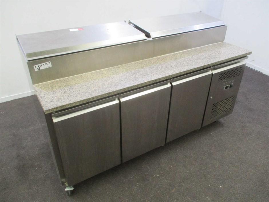 Exquisite MTC360H Stainless Steel 3 Door Prep Bench