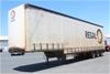 2005 Freighter 45` Triaxle Drop Deck Tautliner Trailer with Mezzanine Floor