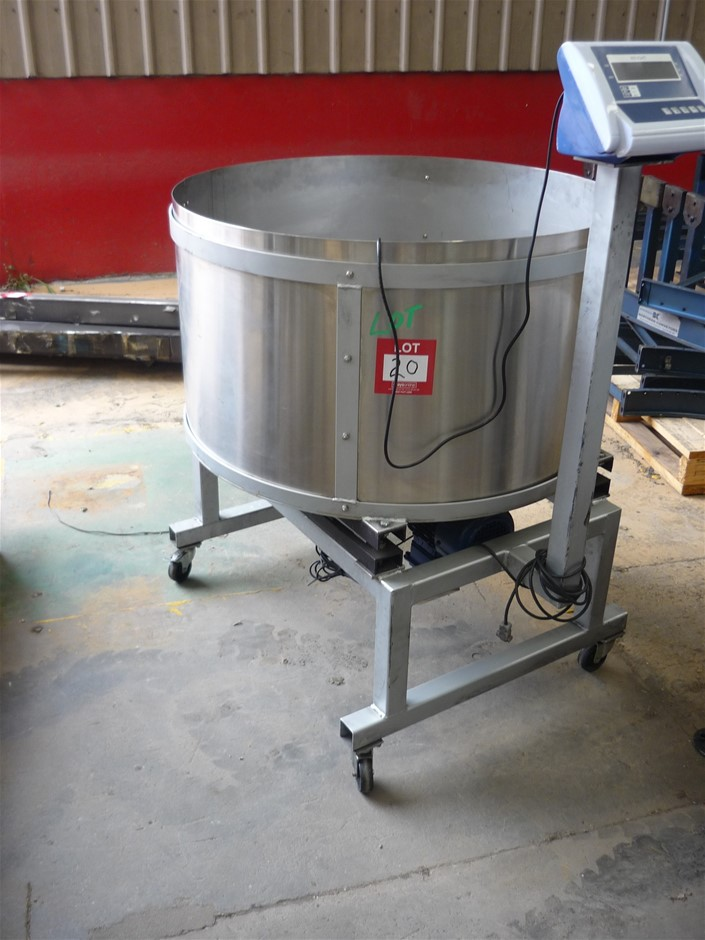 Stainless Steel Weighing Mix Bowl