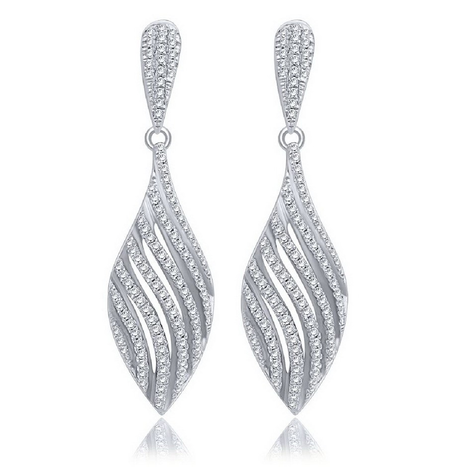 9ct White Gold, 0.33ct Diamond Earring