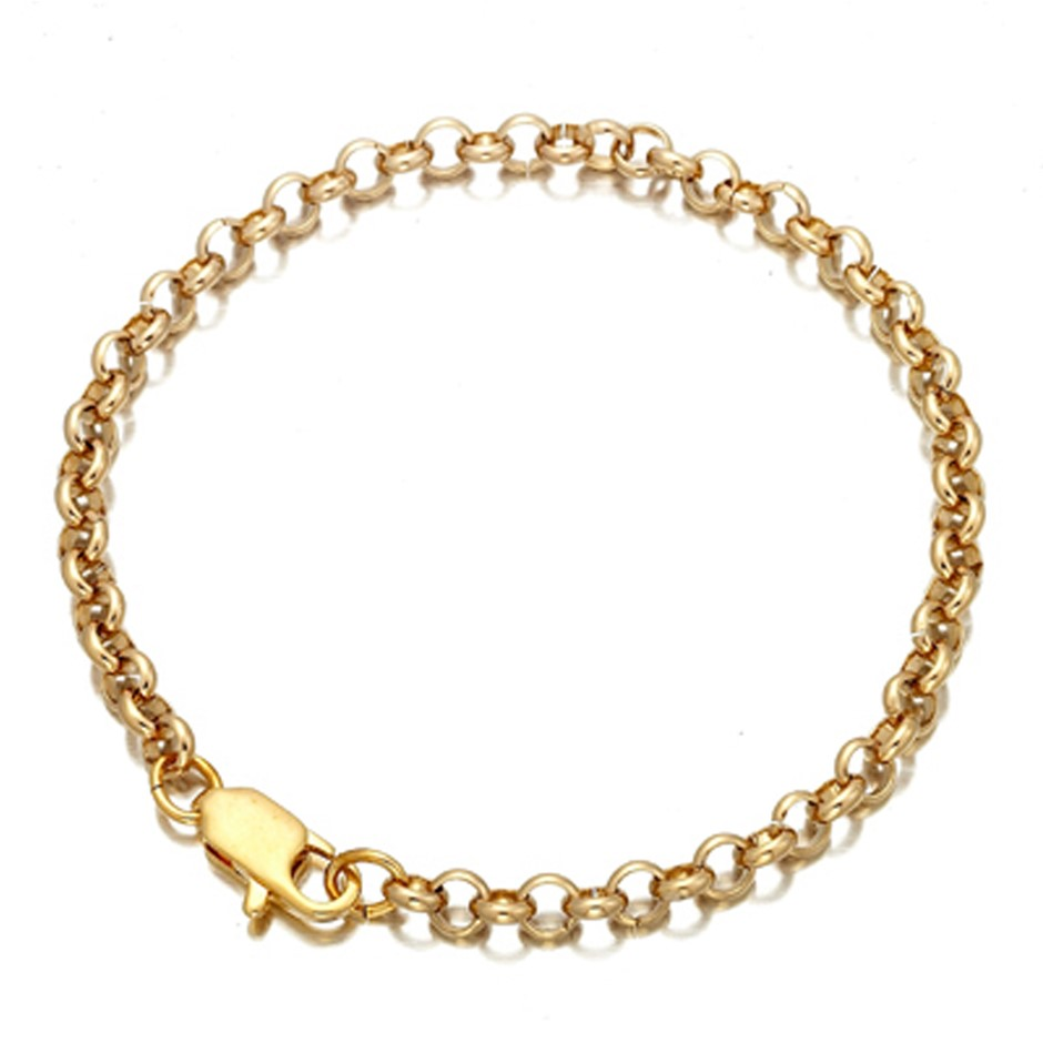 Ladies gold plated belcher bracelet