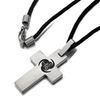 His & Hers stainless steel cross necklaces
