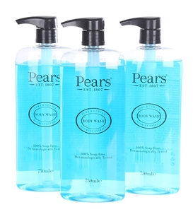 3 x PEARS Soap Free Body Wash with Mint