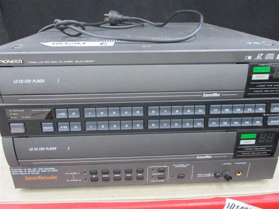 Pioneer CLD-V303T Twin Laser Karaoke Disc Player