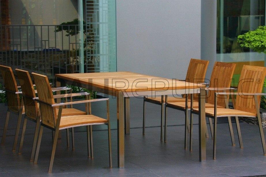 1 x Luxurious NUSA DUA 7 Piece Outdoor Dining Setting by Bali Republic