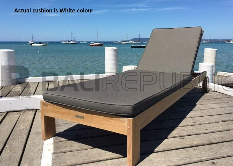 1 x SEMINYAK Sunlounger w White Cushion and 1x SEMINYAK Outdoor Side Table