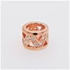 Rose Gold Plated Sterling Silver Zirconia charm or pendant.