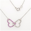 Sterling Silver Zirconia heart necklace