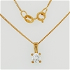 Yellow Gold Plated Sterling Silver pendant on chain