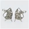 "Sterling Silver Marcasite ""ballerina"" clip earrings"