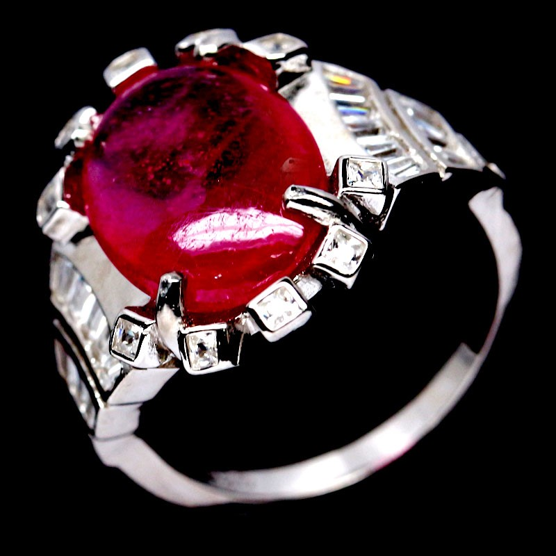 Striking Genuine Ruby Ring.