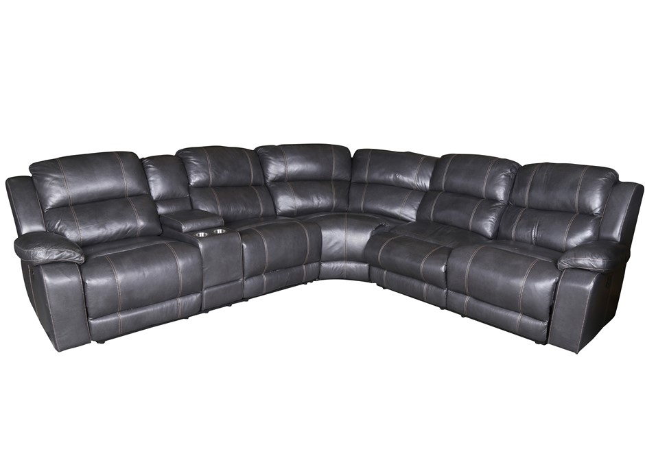 HOME MERIDIAN DUNHILL Theatre Recliner Lounge Suite, 6 x Modular Sections,