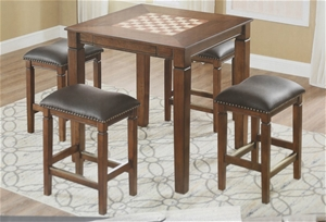 WELL Games Table with 4 x Padded Stools,