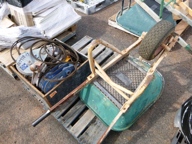 Qty of Lifting Items and Wheelbarrow