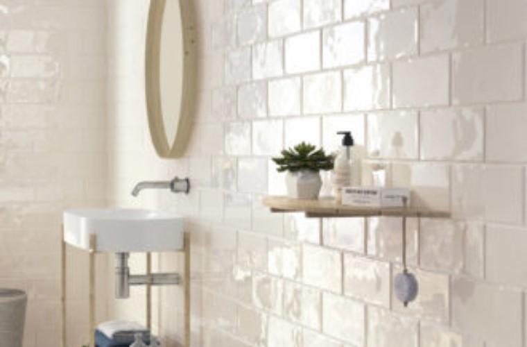 Estudio Ceramica Trendy Cotton Glossy 12.5x25cm Ceramic Subway Tile 37.12m²