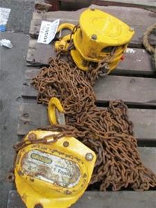 Qty 2 x Chain Pulley Blocks