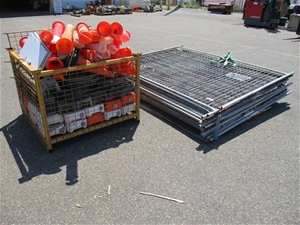 Temporary Fencing Components and Bollard