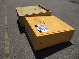 Qty 2 x Hazards Chemical Storage Cabinet