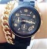 New  Michael Kors 'Runway' signature MK  gold plated watch
