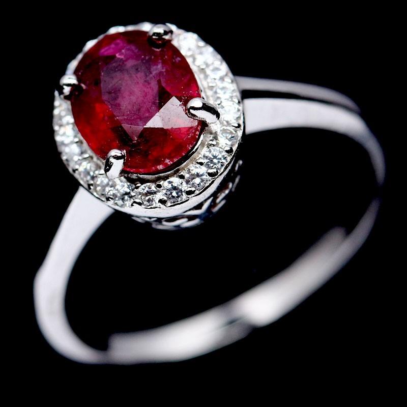 Stunning Genuine Ruby Ring.