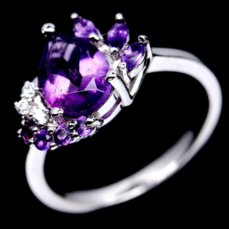 Genuine Amethyst Ring.