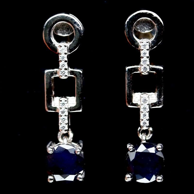Beautiful Genuine Sapphire Drop Earrings.