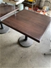2 X Wooden Cafe Tables 800X800 mm