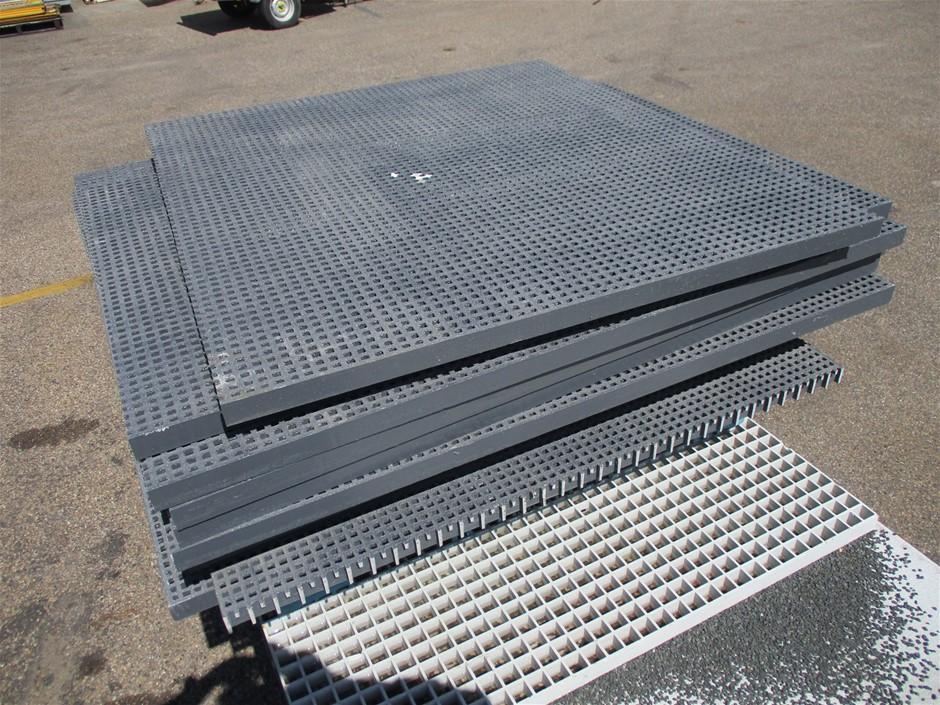 2 x Pallets of FRP Micro Mesh Flooring