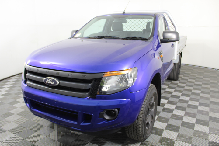 2014 Ford Ranger PX XL (4x4) Turbo Diesel Single Cab Chassis Ute 88,575 Kms