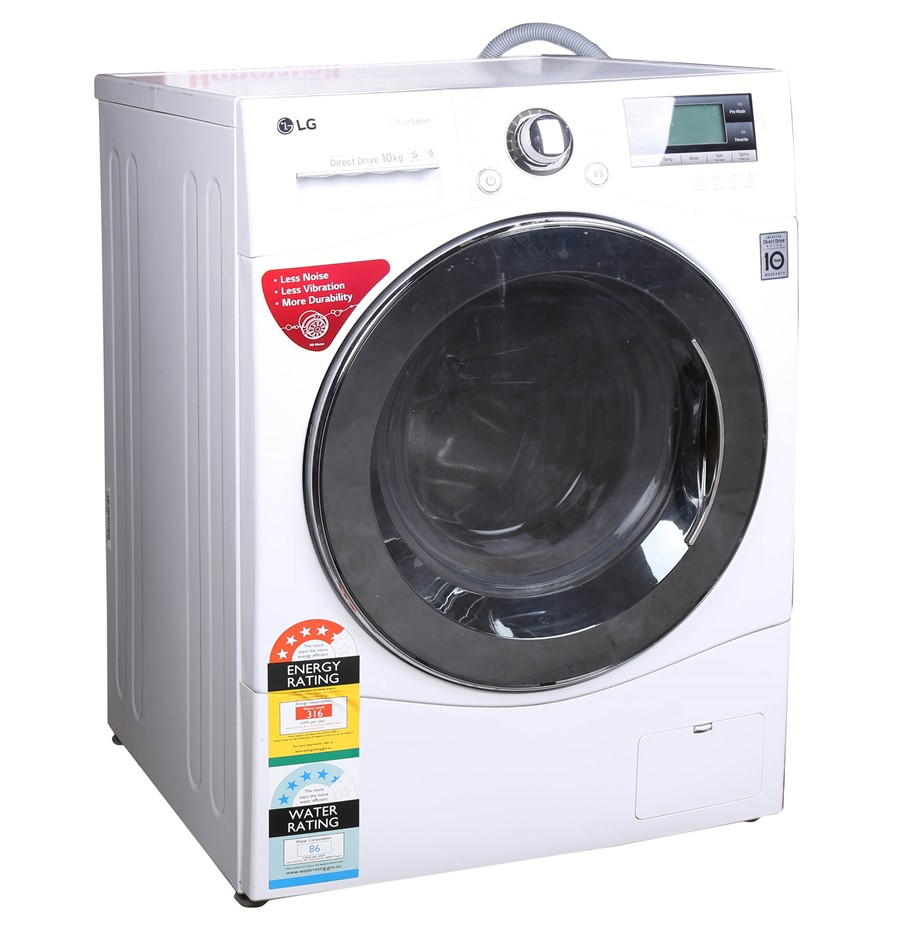 LG TrueSteam 10kg Direct Drive Front Load Washing Machine. N.B. Has been us