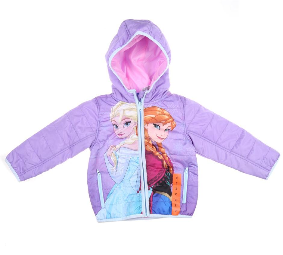 DISNEY FROZEN Girl`s Hooded Jacket, Size 2, Polyester, Multi. (SN:CC49290)