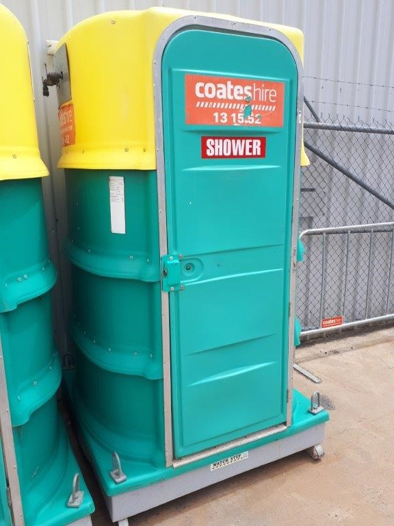 Portable Shower Unit - Ral StyleGreen & Yellow - FORMIT