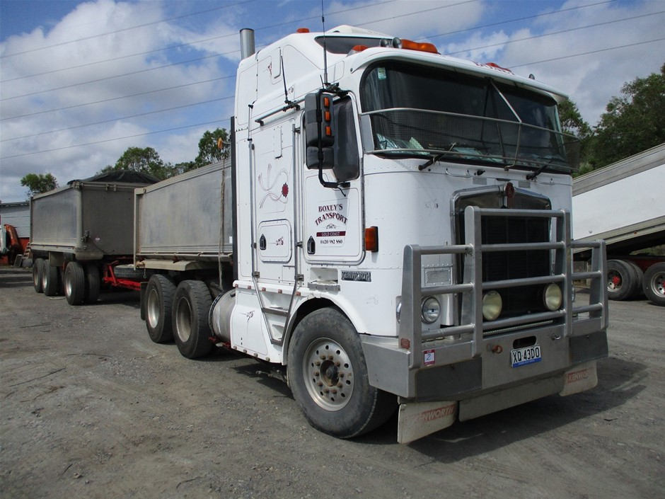1999 Kenworth 104 6x4 Tipper & 2002 Hamelex White Triaxle Super Dog Trailer