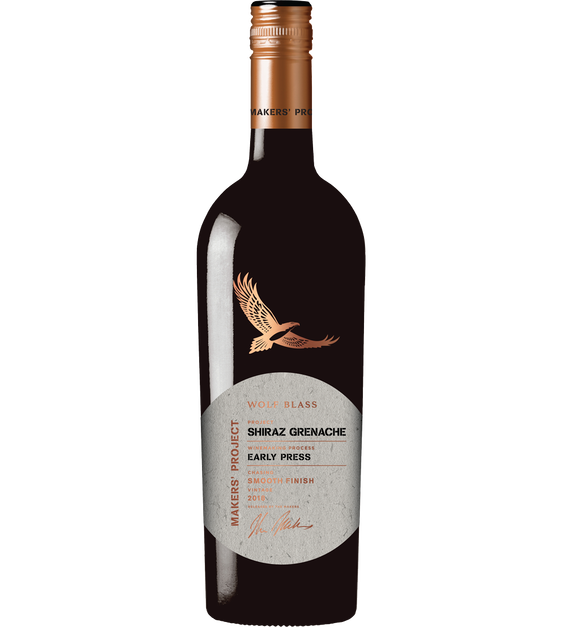 Wolf Blass Makers' Project Shiraz Grenache 2019 (6x 750mL).TAS.
